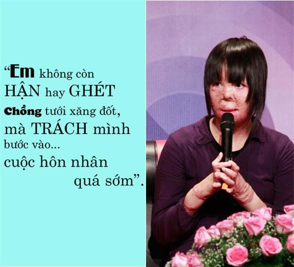 """co gai bi chong tam xang dot: """"khong trach chong chi trach minh buoc vao hon nhan qua som"""" - 1"""