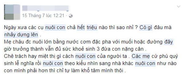 """nuoi 2 con chua den 2 trieu dong/ thang, me bim sua khien dan mang """"nhay dung"""" vi hu cau - 11"""