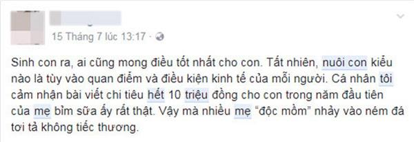 """nuoi 2 con chua den 2 trieu dong/ thang, me bim sua khien dan mang """"nhay dung"""" vi hu cau - 9"""