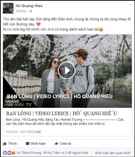 Hồ Quang Hiếu tặng các khúc cho Bảo Anh -1
