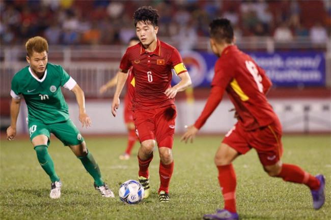 U23 Việt Nam - U23 Macau: Bàn thắng như mưa, vượt lên dẫn đầu - 1