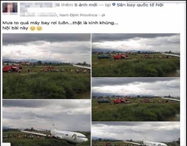 Người phụ nữ tung tin đồn máy bay rơi ở Nội Bài để câu like bán mỹ phẩm - Ảnh 1.