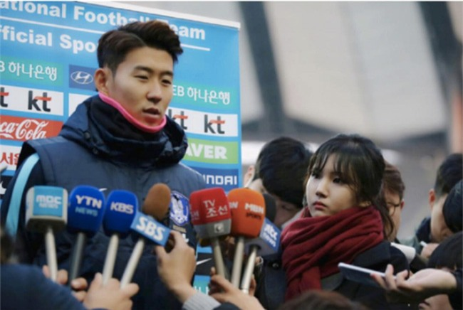 """Nữ phóng viên xinh đẹp Hàn Quốc """"phải lòng"""" Công Phượng - 2"""