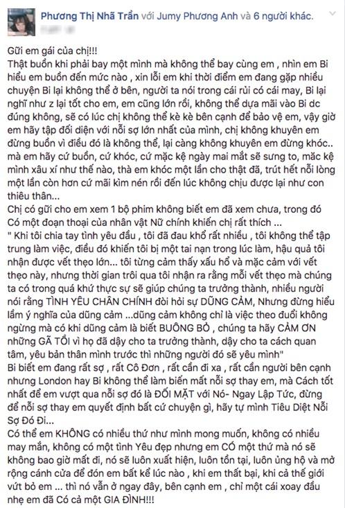 Nhã Phương mượn em gái viết tâm thư chia tay Trường Giang? - Ảnh 1.