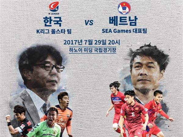 Trận Tuyển các ngôi sao K-League gặp U22 Việt Nam là lần hiếm hoi VFF bán vé qua mạng. Ảnh: VFF