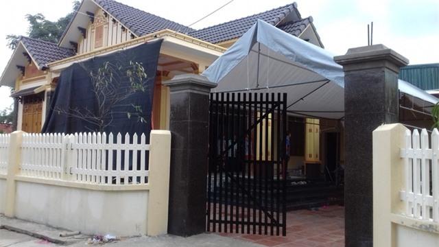 Ngôi nhà của vợ chồng chị Vân - nơi xảy ra vụ án mạng rạng sáng 20/7.