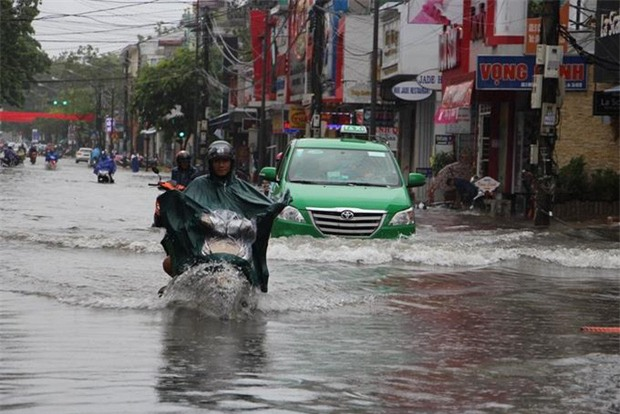 Clip: Người dân đổ xô ra đoạn đường ngập để bắt cá giữa tâm bão số 4 - Ảnh 9.
