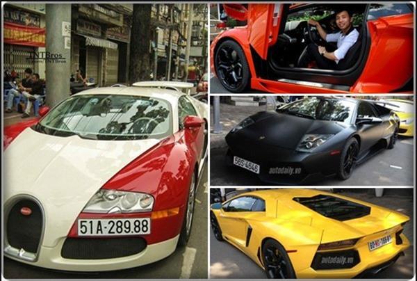 Cường Đô la, Hiệp Gas, Minh Nhựa, Phan Thành, siêu xe, xe siêu sang