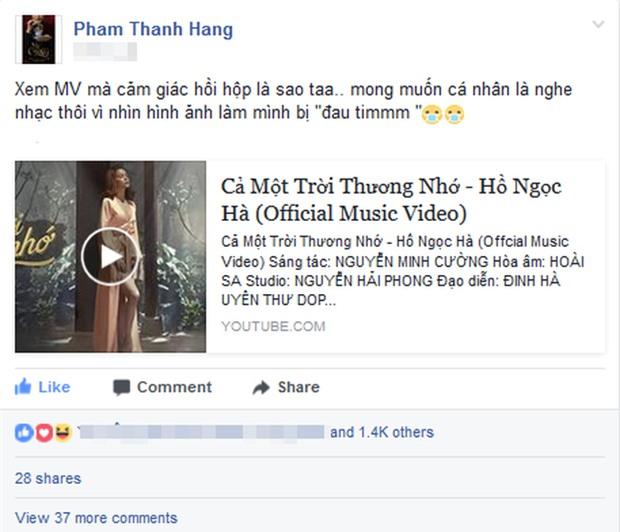 Hồ Ngọc Hà cảnh báo Thanh Hằng không được đánh ghen khi xem MV mới của mình - Ảnh 1.