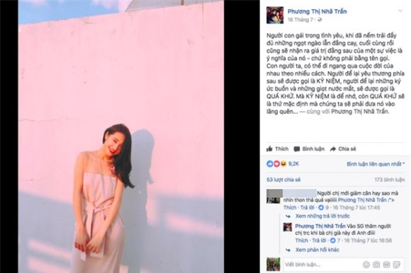 Giua tin don ran nut, Nha Phuong va Truong Giang huy ket ban tren Facebook