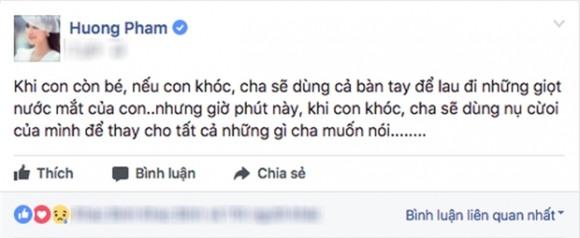 chuyện làng sao,sao Việt,Phạm Hương,bố Phạm Hương mất