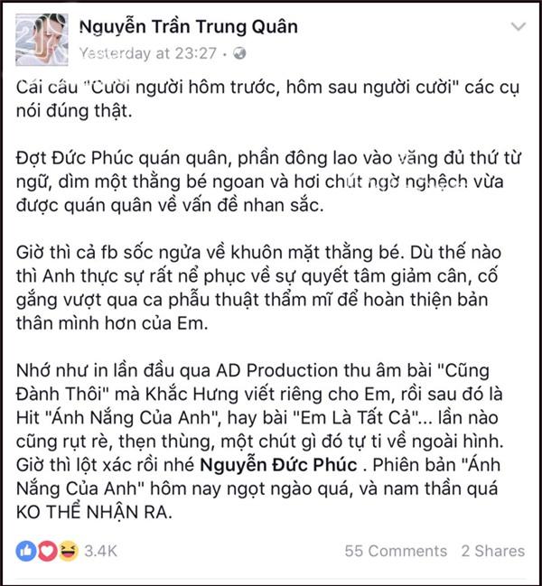 Đồng loạt nghệ sĩ Việt chúc mừng Đức Phúc đã có diện mạo nam thần-9
