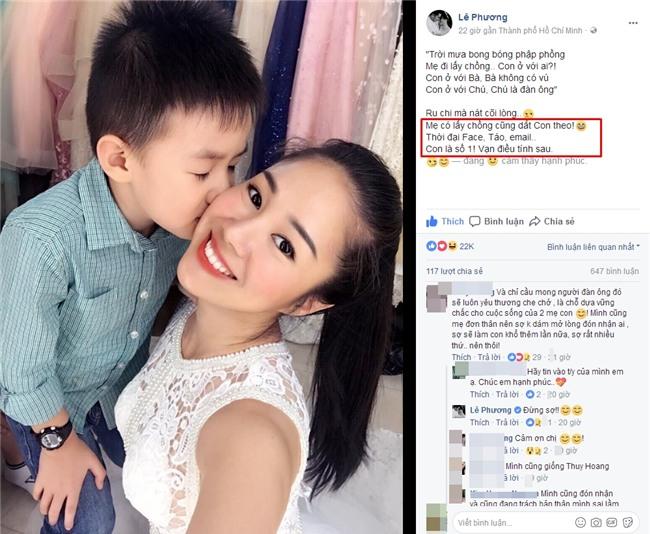 Sắp đến ngày tái hôn, Lê Phương khẳng định: 'Mẹ có lấy chồng cũng dắt con theo'-4
