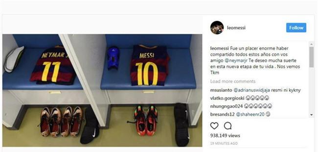 Messi chinh thuc noi loi tu biet Neymar hinh anh 1