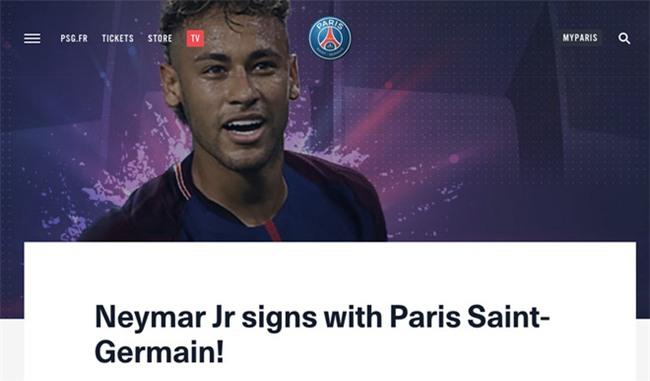 PSG chinh thuc cong bo sieu bom tan Neymar hinh anh 1
