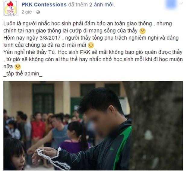 Thầy giáo qua đời vì TNGT khi vợ đang mang thai, nhiều thế hệ học sinh THPT Phùng Khắc Khoan bàng hoàng tiếc thương - Ảnh 1.