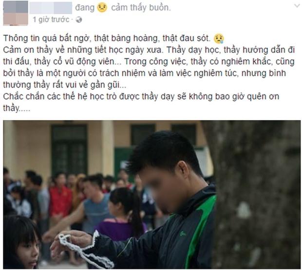 Thầy giáo qua đời vì TNGT khi vợ đang mang thai, nhiều thế hệ học sinh THPT Phùng Khắc Khoan bàng hoàng tiếc thương - Ảnh 3.