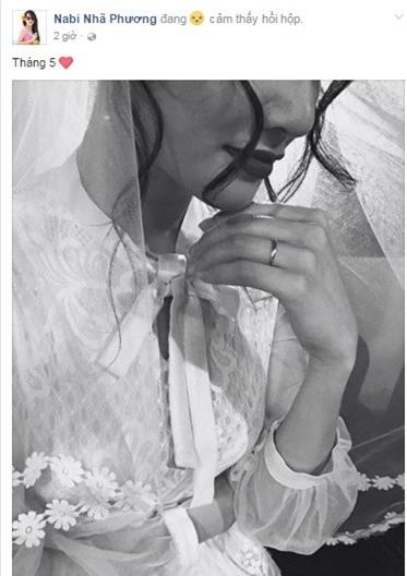 Nhã Phương đăng ảnh mặc váy cưới, đeo nhẫn lên trang cá nhân. - Tin sao Viet - Tin tuc sao Viet - Scandal sao Viet - Tin tuc cua Sao - Tin cua Sao