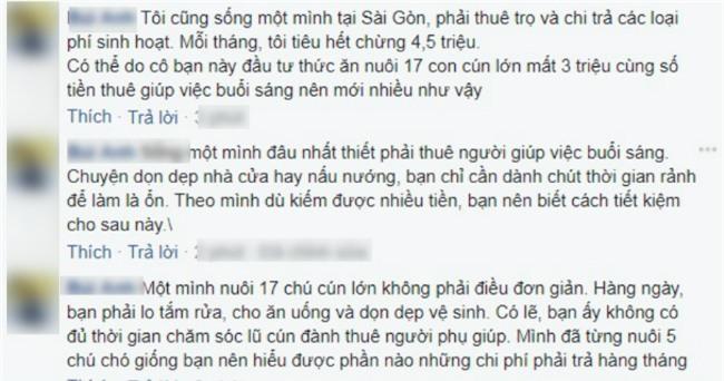 bang chi tieu gay tranh cai cua co gai doc than 24 tuoi: giup viec buoi sang het hon 3 trieu/thang - 2