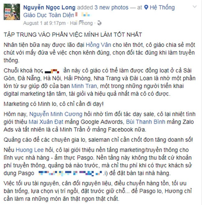 blogger noi tieng chi day gioi tre cach thanh cong: hay tap trung vao thu minh lam tot nhat - 1