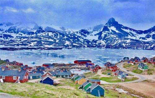 Khu vực làng chài vùng Nuugaatsiaq, tây nam Greendland, nơi xảy ra cơn sóng thần khổng lồ. Ảnh: Wikipedia.