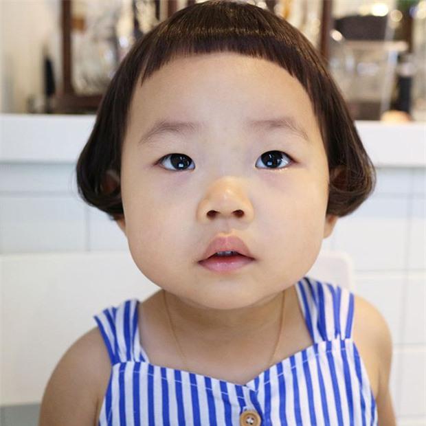 Cô nhóc Hàn Quốc có mái tóc 'gáo dừa' dễ thương đi đâu cũng được xuýt xoa-1