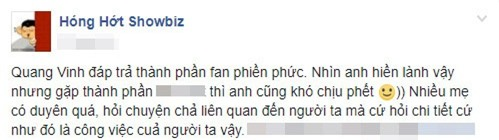 chuyện làng sao,sao Việt,Quang Vinh