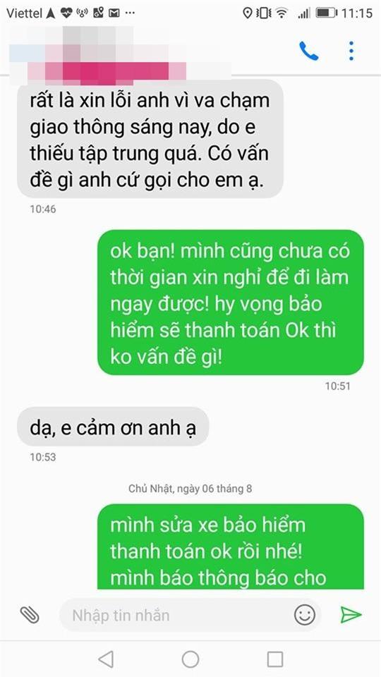 Vụ đâm xe trên phố Hà Nội và tin nhắn tài xế nhận được sau khi trở về nhà  - Ảnh 2.