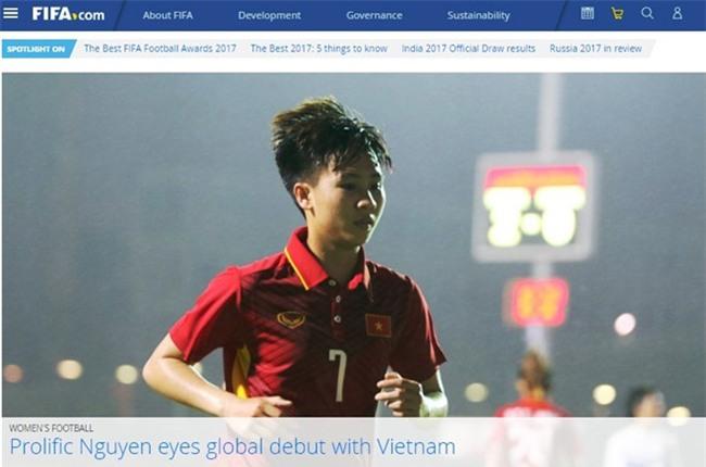 Ngoi sao tuyen nu Viet Nam len trang chu FIFA hinh anh 1