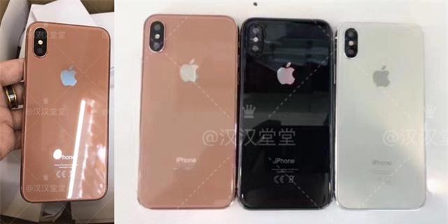 Tấm ảnh được chia sẻ trên mạng xã hội Weibo, cho thấy thiết kế mặt sau và màu mới giống như màu đồng của iPhone 8.
