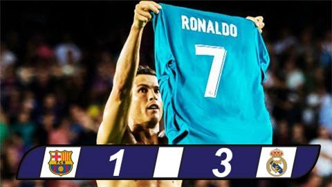 Ronaldo lập siêu phẩm, Real phá tan sào huyệt Barca