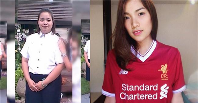 khong dung dao keo, gai e nang 110kg lot xac thanh hot girl 50kg xinh lung linh - 4