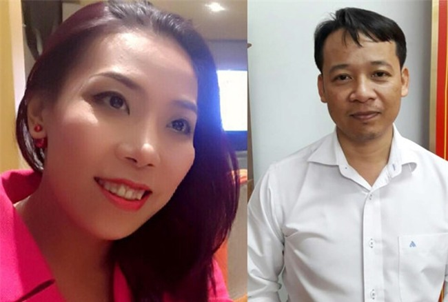 Nữ nhà báo Phạm lê Hoàng Uyển (Ảnh: facebook cá nhân) và ông Võ Hoàng Hà-Chủ tịch Cty CP khử trùng Châu Á tại TPHCM (Ảnh: Công an cung cấp)