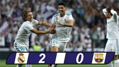 Không Ronaldo, Real vẫn đập nát Barca bằng siêu phẩm của Asensio