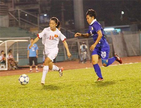 Huỳnh Như đang là niềm hy vọng của đội tuyển nữ Việt Nam (ảnh: K.Đ)
