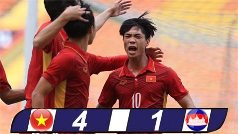 Công Phượng lập cú đúp, U22 Việt Nam thắng trận thứ hai