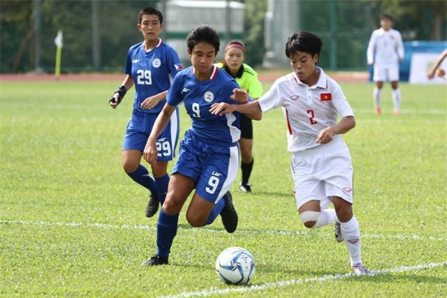 Đội tuyển nữ Việt Nam dễ dàng đánh bại Philippines (ảnh: Q.H)