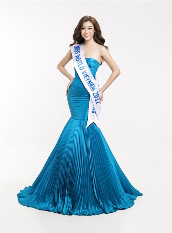 Hoa hậu Đỗ Mỹ Linh khoe vẻ đẹp tinh khôi khi trở thành 'Miss World Vietnam 2017'-6