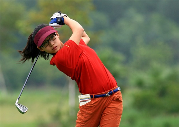 Golf thủ chân dài, xinh như hot girl trẻ nhất đoàn thể thao Việt Nam tại SEA Games 29 - Ảnh 3.