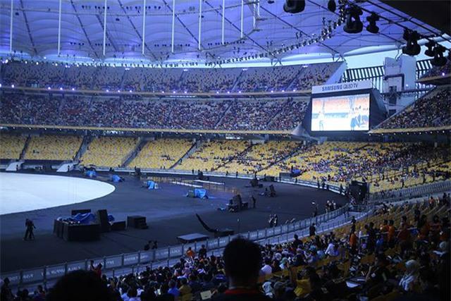 Sân khấu được dựng lên ở Bukit Jalil đang rút hoàn thành trước Giờ G