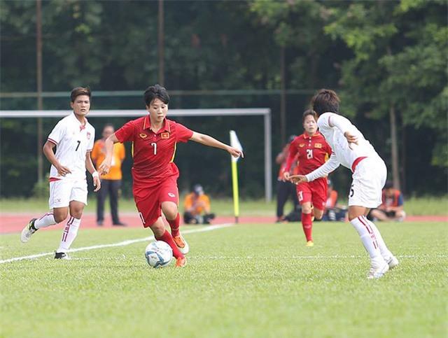 Đội tuyển nữ Việt Nam đánh bại Myanmar (ảnh: Q.H)