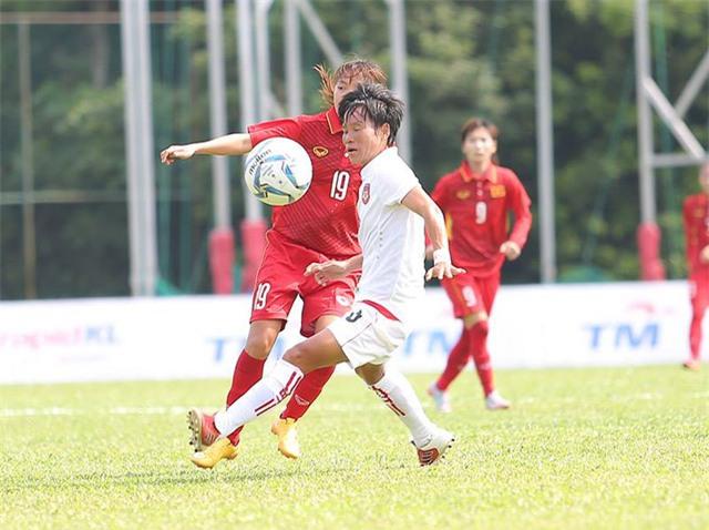 Chiến thắng giúp đội tuyển nữ Việt Nam tiến gần đến bộ HCV (ảnh: Q.H)