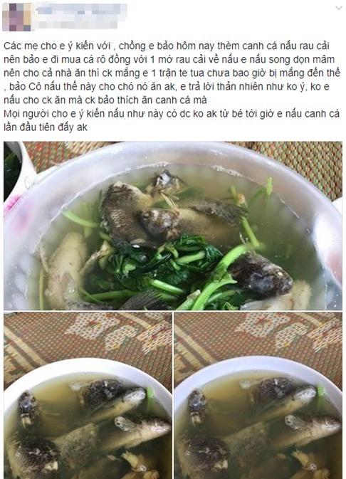 Chồng thèm ăn canh cá rô nấu rau cải, vợ tức tốc ra chợ mua về nấu và cái kết bi ai chưa từng có - Ảnh 1.