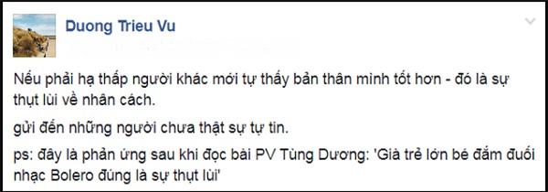 Bênh Đàm Vĩnh Hưng, Dương Triệu Vũ thẳng thừng chê Tùng Dương thụt lùi về nhân cách-2