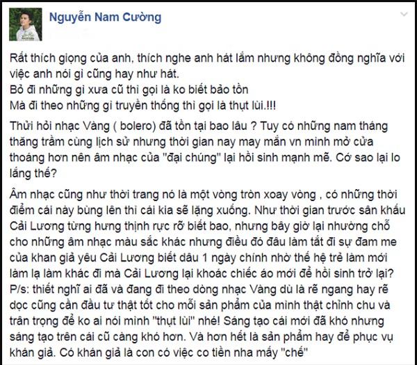 Bênh Đàm Vĩnh Hưng, Dương Triệu Vũ thẳng thừng chê Tùng Dương thụt lùi về nhân cách-6