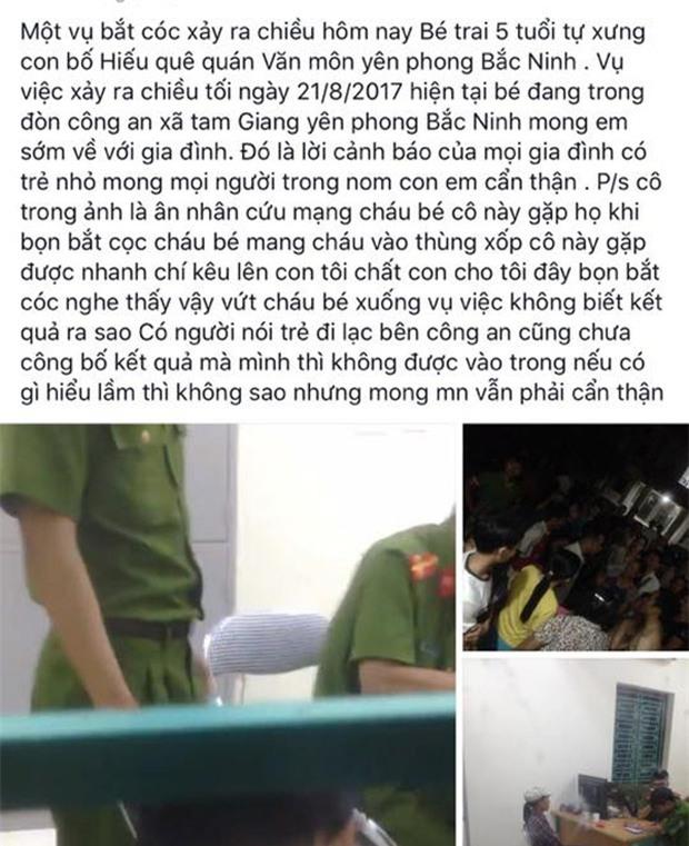 Bắc Ninh: Cháu bé đi lạc được người phụ nữ đưa về trụ sở UBND, người dân nghi ngờ có chuyện bắt cóc - Ảnh 1.