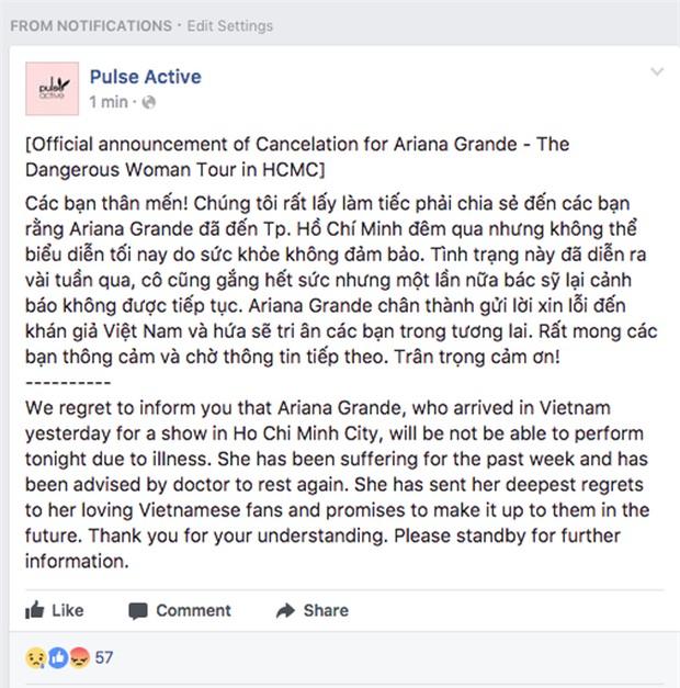 Ariana Grande bất ngờ hủy show trước giờ G, những tấm vé fan đã mua sẽ được hoàn tiền hay BTC xử lý thế nào? - Ảnh 3.