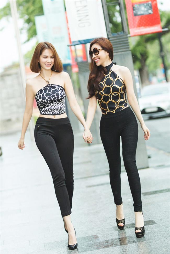 Kỳ Duyên, Ngọc Trinh rủ nhau diện đồ trễ nải trong street style tuần này - Ảnh 3.