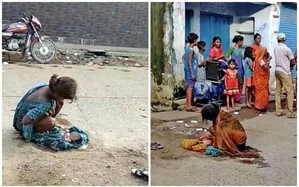 Sự thật phẫn nộ sau hình ảnh thiếu nữ 17 tuổi sinh con ngoài đường, người đẫm máu, cách trung tâm y tế chỉ 30m - Ảnh 1.