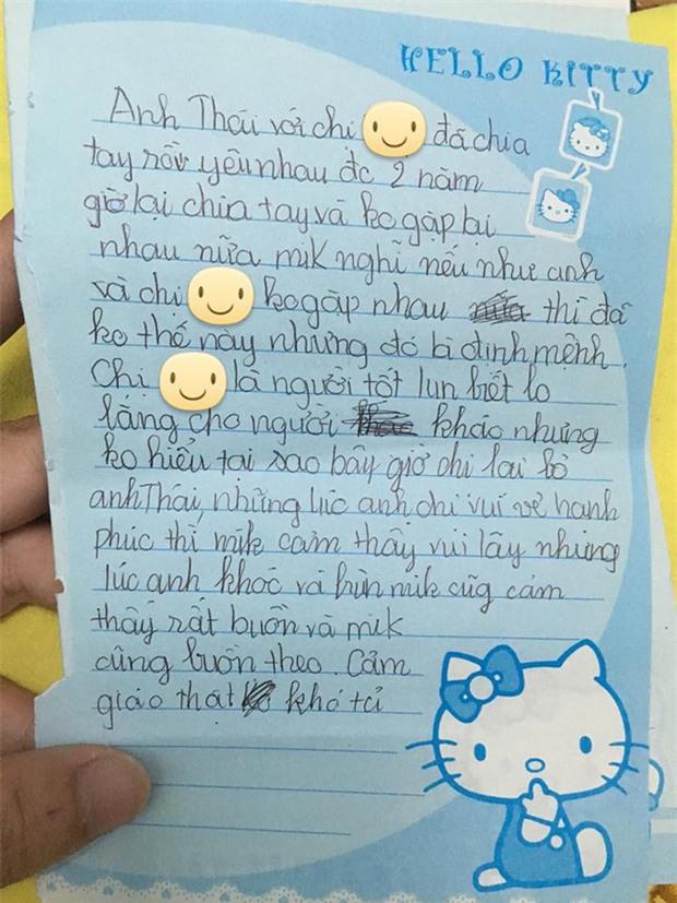 Anh trai thất tình, em gái 9 tuổi viết nhật ký thương anh hết sức - Ảnh 1.